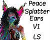 Peace Splatter Ears V1