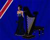 harp with black seat