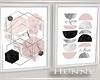 H. Framed Pink Pics WN