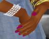 dark fuschia manicure