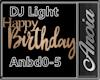 DJ Light Birthday Banner
