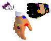 Orange Clown Gloves