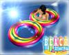 (K) Rainbow Swim Ring
