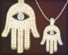 Gold Chain Hamsa Female