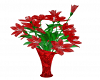 Red Flower w/Vase