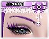 *S Purple Eyebrows