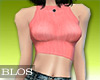 BLOS Skinny Pink Top