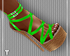 Lime Strapped Sandals
