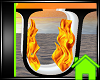 ! Animated Fire Letter U