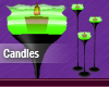 Green Animated Candles