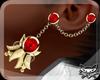 ! XMAS Earrings GoldRed