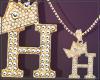 Gold Chain H Letter Fem