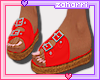 ➸ Sandals (Red)