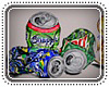Crushed empty cans