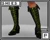 *P Pirate Boots GreeGold