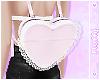 ☽Pastel Lace Heart Bag