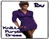 Bv Knitted Purple Dress