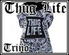 White Thug Life Coat