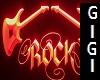 Rock Guitar neon red