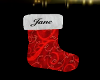 Jane Christmas Stocking