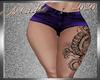 !a Short+Tattoo Purkle