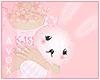 ☾ pink bunny plushie