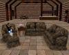 Log Cabin Sofa Set