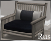 Rus Navy Wood Chair