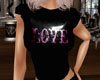 T-Shirt Love Purple