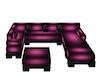 Pink Group Sofa