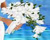 white spray bouquet