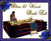 Blue & Wood Bath Tub