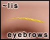 Eyebrows: gold I