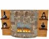 Warehouse wallfireplace