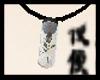 Black Rose Vial Necklace