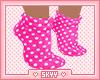 Kids Pink Polkadot Socks