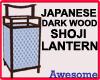 Dark Wood Shoji Lantern