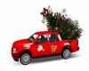 Santa Truck w/ Xmas Tree