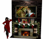The Grinch Fireplace TV