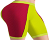 Yellow Red Cycling Short