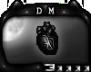 [DM] Black heart Badge