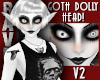 GOTH DOLLY HEAD 2