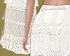 Ivory Ruffle Trim Skirt