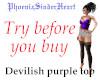 Devilish purple top