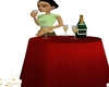 Animated Champagne Table