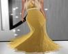Elegant  Gold Gown