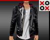 Leather Jacket & Hoodie