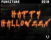 V| Halloween Sign