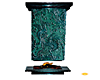 Teal Pillar Fireplace