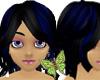 Black Hair w/ Bl Streaks